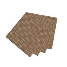 Golden Brown Plaid Fabric Napkin (Set of 4)
