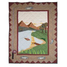 Gone Fishing Cotton Crib Quilt