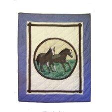 Horse Friends Cotton Crib Quilt