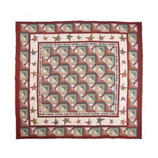 Woodland Star and Geese Luxury Quilt