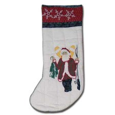 <strong>Patch Magic</strong> Northpole Fish Tales Santa Stocking