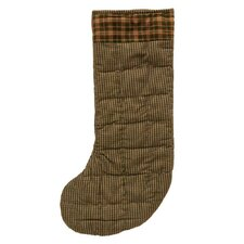 Green Hunter and Tan Check Stocking (Set of 2)