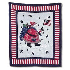 <strong>Patch Magic</strong> Colonial Santa Cotton Throw