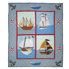 <strong>Patch Magic</strong> Ships Ahoy Cotton Throw