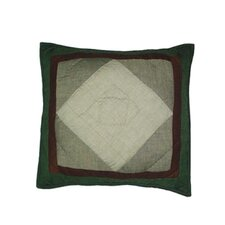<strong>Patch Magic</strong> Bear Trail Patchwork Cotton Toss Pillow