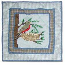 Songbirds Cotton Toss Pillow