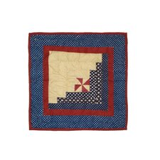 <strong>Patch Magic</strong> Midnight Log Cabin Cotton Toss Pillow
