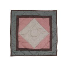 Wolf Trail Patchwork Cotton Toss Pillow