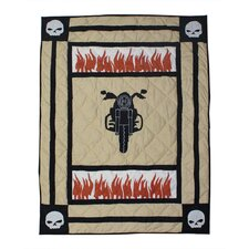 Bike Cotton Crib Quilt