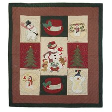 <strong>Patch Magic</strong> Jolly Snowmen Twin Quilt