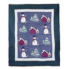 <strong>Patch Magic</strong> Snowman Cotton Throw