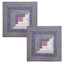 Sail Log Cabin Cotton Pillow (Set of 2)