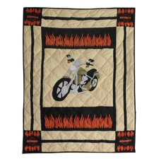 Motor Cycle Crib Quilt