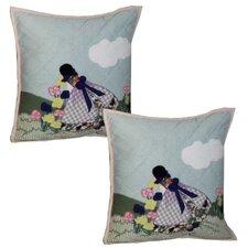 Sundress Girl Cotton Pillow (Set of 2)