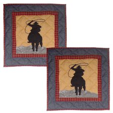 <strong>Patch Magic</strong> Shadow Rider Cotton Pillow (Set of 2)