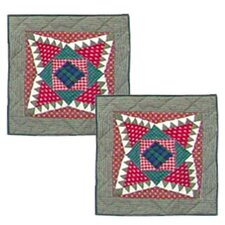 <strong>Patch Magic</strong> Yuletide Stars Cotton Pillow (Set of 2)