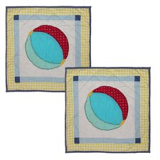 Summer Fun Ball Cotton Pillow (Set of 2)