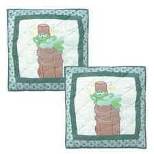 Hoppy Days Cotton Toss Pillow (Set of 2)