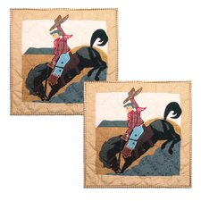 <strong>Patch Magic</strong> Brand and Rider Cotton Toss Pillow (Set of 2)