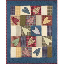 Country Hearts Crib Quilt