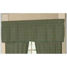 "Green Hunter and Tan Checks 54"" Curtain Valance"