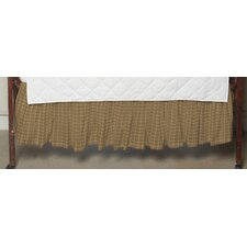 Brown Plaid Fabric Crib Dust Ruffle