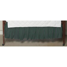 <strong>Patch Magic</strong> Green Tartan Plaid Fabric Crib Dust Ruffle