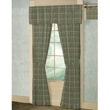 <strong>Patch Magic</strong> Green Yellow Plaid Cotton Tab Top Bed Curtain Single Panel