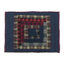 Red Log Cabin Cotton Crib Toss Pillow