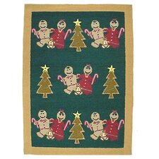 Gingerbread Family Kids Rug