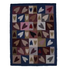Primitive Hearts Kids Rug