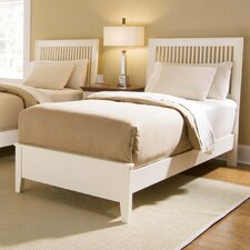 Sterling Pointe Twin Slat Bed in White