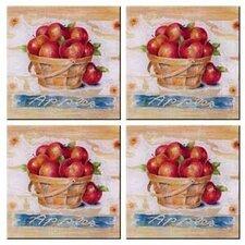 Tuftop Apple Basket Coasters (Set of 4)