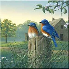 Tuftop Country Morning Bluebirds Trivet