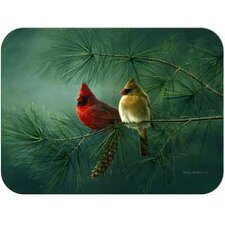 Tuftop Cardinals and White Pine Cutting Board