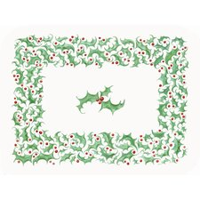 1 Snowman Trio & 1 Holly Border (Set of 2)