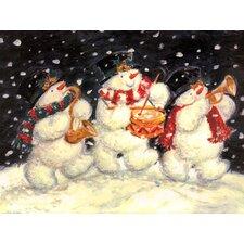 1 Snowman Trio & 1 Holly Border (Set of 2)
