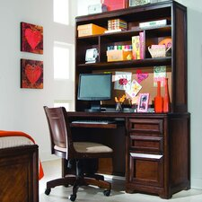 "<strong>Lea Industries</strong> Elite Expressions 50"" W Computer Desk with Keyboard Tray and Hutch"