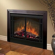 "Electraflame 39"" Built-in Electric Firebox with Swing Doors and Trim"