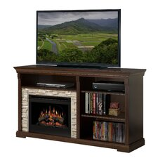 "Edgewood 65"" TV Stand with Electric Log Fireplace"