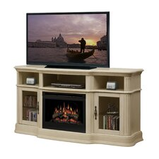"Portobello 68"" TV Stand with Electric Log Fireplace"