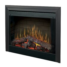 "Electraflame 33"" Built-in Electric Firebox with Glass Door and Trim"