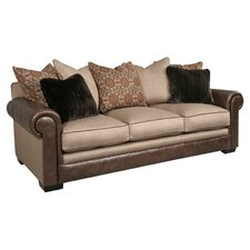 Gracie Leather/Polyester Sofa