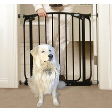 Swing Closed Pet Gate in Black