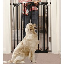 Extra-Tall Swing Closed Pet Gate in Black