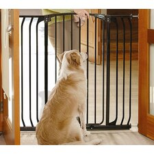 Black Extra-Tall Hallway Pet Gate in Black