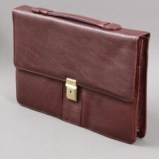 <strong>Dr. Koffer Fine Leather Accessories</strong> Dana Compact Leather Laptop Briefcase
