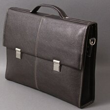 <strong>Dr. Koffer Fine Leather Accessories</strong> Watson Suede Leather Laptop Briefcase