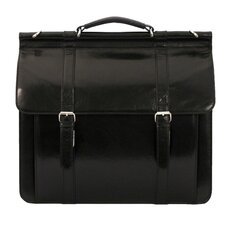 Sergei Classic Leather Laptop Briefcase