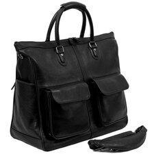 "<strong>Dr. Koffer Fine Leather Accessories</strong> Keats 19"" Leather Travel Duffel"